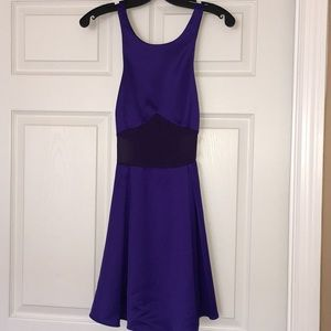 Nasty Gal Purple Satin Dress
